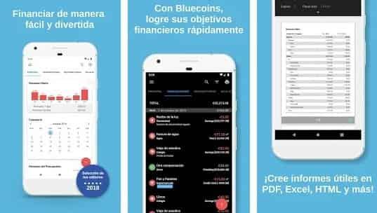 Bluecoins para android aplicacion de dinero y manejo